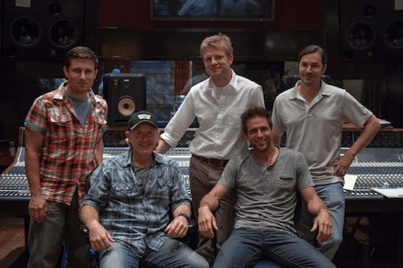 Pictured (Front row, L-R): Brett Beavers (Producer), Canaan Smith; (Back row, L-R):: Daniel Lee (BMG Chrysalis Senior Creative Director), Kos Weaver (BMG Chrysalis Executive Vice President), Luke Wooten (Producer)