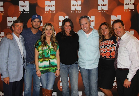 Pictured (L-R): John Dickey (Executive Vice President / Co-COO), Chuck Wicks, Sunny Sweeney, Terri Clark, Blair Garner, Kim Bryant (Vice President / Market Manager, Cumulus New York) and John Foxx (Program Director, NASH FM 94.7 & WPLJ 95.5).