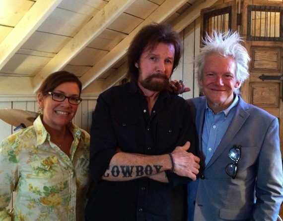 L to R: Diane Monk,  VP Promotion for HitShop Records, Ronnie Dunn, and Skip Bishop, President of HitShop Records.