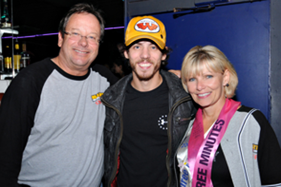 "Chris Janson paid a visit to KRTY to perform his brand new single ""Cut Me Some Slack"" in a show supporting of the San Jose's annual Avon Breast Cancer Team Event. The Country newcomer will release his Bigger Picture Group CD on September 3. Pictured (L-R)  Nate Deaton (KRTY MD), Chris Janson, Tina Ferguson (and Sales Manager). Photo: Rudy Sabin"
