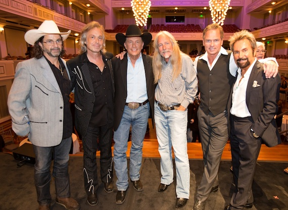Pictured (L-R): Phil O'Donnell, Jim Lauderdale, Strait, Dean Dillon, Tim James, Tony Brown