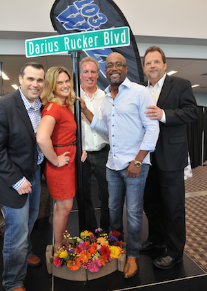 Darius Rucker and the WEZL Morning Crew. Photo: Travis Dew Photography