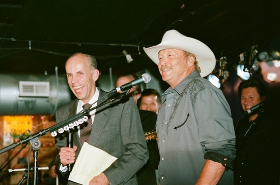 Pictured (L-R): Eddie Stubbs, Alan Jackson