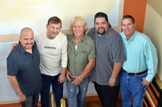 Pictured (L-R): Swat Music Group/Busy At Play Publishing's Johnny Garcia, SESAC's John Mullins, SESAC's Tim Fink and Swat Music Group's Jamin Swantner. Photo: Peyton Hoge