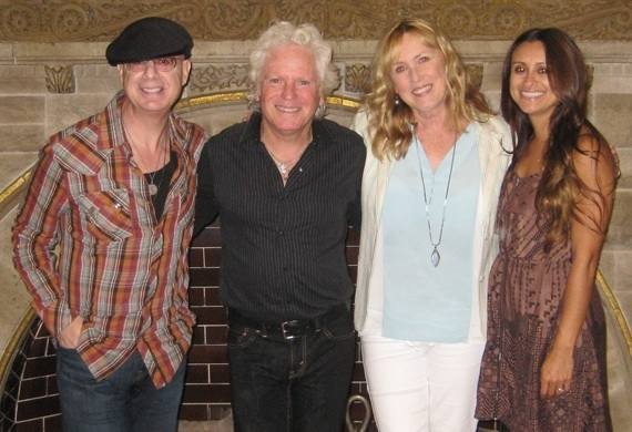 Pictured (L-R): MSO President Mitch Schneider, influential radio personality/musician Billy Block, MSO Nashville Director/Publicist Lyndie Wenner and MSO Account Executive Angela Villanueva. Photo: Randi Radcliff.