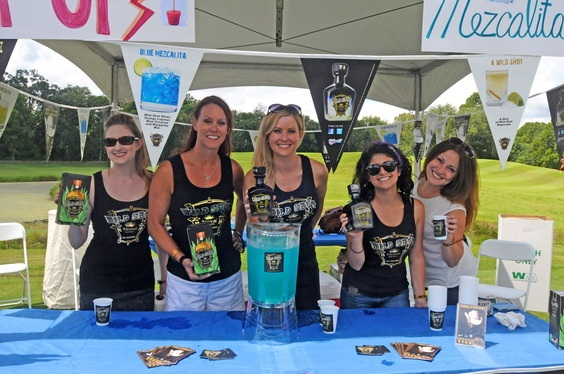 """Sponsor Toby Keith's Wild Shot Mezcal's booth in """"Tent City""""Pictured (l-r): TKO Artist Management's Misha WIlliams, Paradigm Agency's Jenn DeLamar, and TKO's Laura Covington and Michelle Garramone, with ASCAP/MRLGT's Alison Toczylowski"""