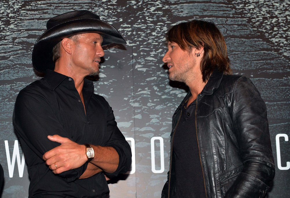 (L-R): McGraw, Urban, Photo Rick Diamond/Getty
