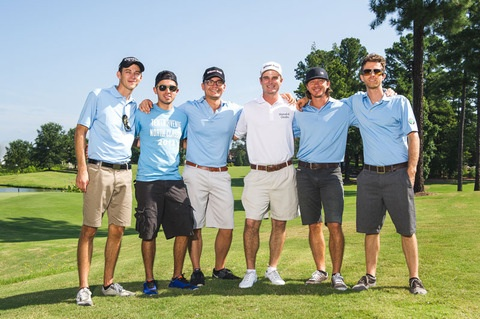 Pictured (L-R): Jason Jamison, Ruben Juarez, Jeff Owen, Kevin Streelman, Mike Donehey, Brendon Shirley. Photo: Paul Kim