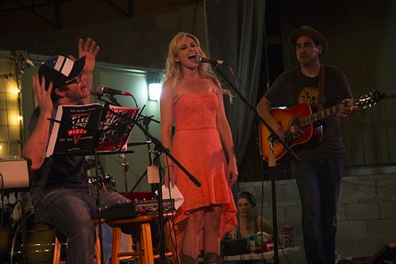 Laura Bell Bundy, Bobby and Eddie from The Bobby Bones show perform.