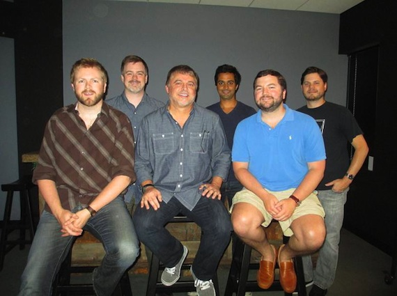 Pictured, Back row: Ben Vaughn (Warner/Chappell),  Rohan Kohli (Ozone Entertainment), Matt Michels (Warner/Chappell). Front row: BJ Hill (Warner/Chappell), Danny Orton, Blain Rhodes (Warner/Chappell).