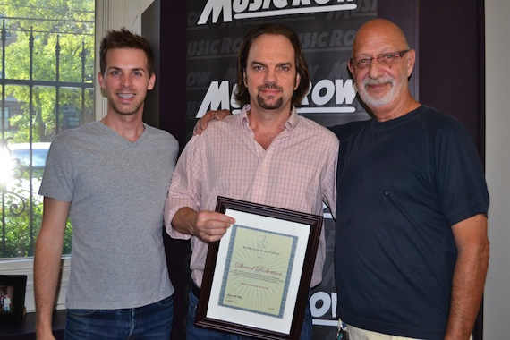 Pictured (L-R): Eric Parker, MusicRow Enterprise Owner Sherod Robertson, Producer's Chair founder James Rea.
