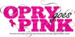 """Opry Goes Pink"" For Breast Cancer Awareness Oct. 22"