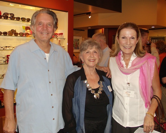 Pictured (L-R): Mike Curb, Gail McDaniel, Linda Curb