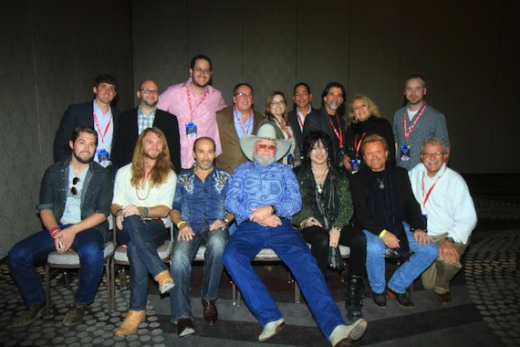 Pictured (Back row L-R): Chris Looney (Agent), Heath Baumhor (Agent), Craig Newman (Agent), Jim Gosnell (President/CEO), Jackie Knobbe (Agent), Frank Wing (Senior Vice President), Steve Lassiter (Senior Vice President/Partner), Bonnie Sugarman (Senior Vice President) and Andrew Buck (Agent). APA Artists/Agent (Front Row): Nick Jamerson (Sundy Best), Kris Bentley (Sundy Best), Lee Greenwood, Charlie Daniels, Tom Keifer, Lee Roy Parnell and APA's Ray Shelide.
