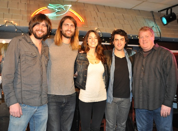 Pictured (L-R): Josh Matheny, Ryan Hurd, Morgan Leigh, Johnny Duke and ASCAP's Mike Sistad. Photo: ASCAP's Alison Toczylowski.