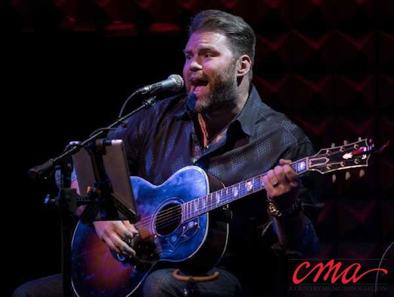 James Otto performs during the CMA Songwriters Series at Joe's Pub in New York City Wednesday night. Photo Credit: Kevin Yatarola / CMA