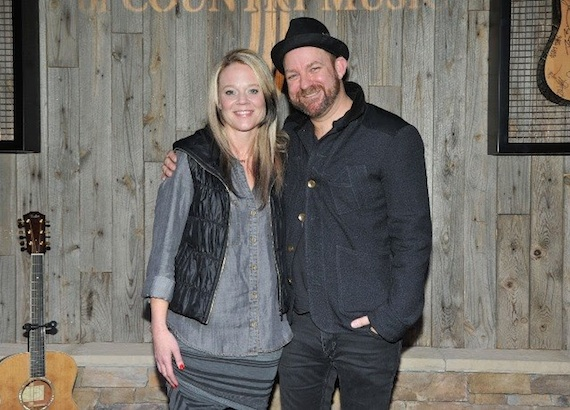 Photo (L-R): Tiffany Moon, ACM Executive Vice President/Managing Director; Kristian Bush. Photo: Michel Bourquard/Courtesy of the Academy of Country Music