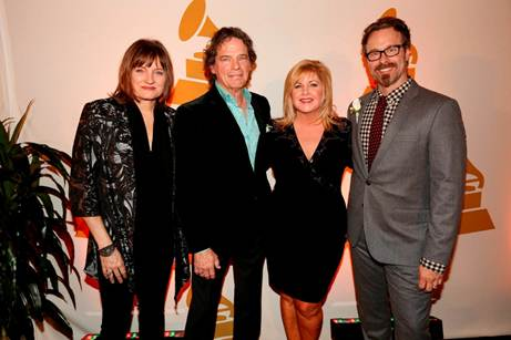 Pictured (L-R): Recording Academy Chair of the Board of Trustees Christine Albert,GRAMMY Hall of Fame inductee B.J. Thomas, Recording Academy South Regional Director Susan Stewart and Nashville Chapter President Jeff Balding