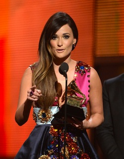 Musgraves accepts the Grammy for Country Album of the Year.