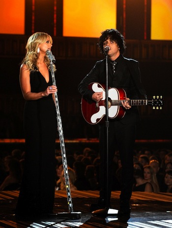 Miranda Lambert and Billie Joe Armstrong salute the Everly Brothers.