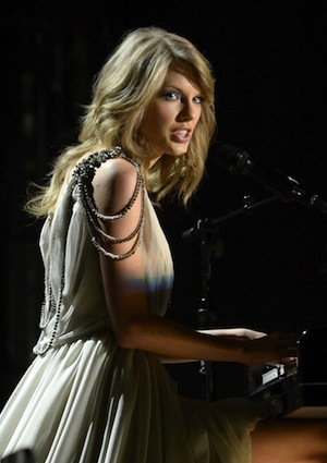 "Taylor Swift performs ""All Too Well"" on the Grammys."
