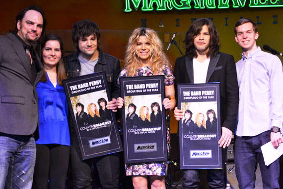 The Band Perry accepts Group/Duo of the Year.