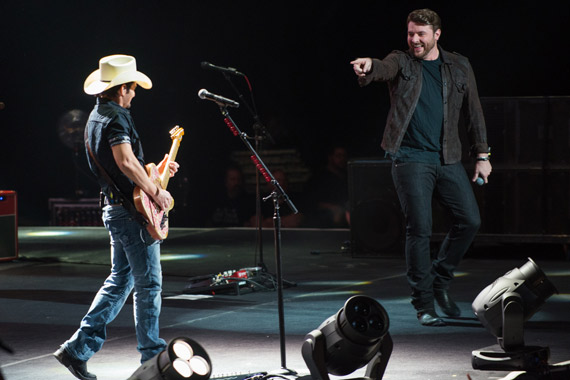 Brad Paisley and Carrie Underwood. Photo: Ben Enos