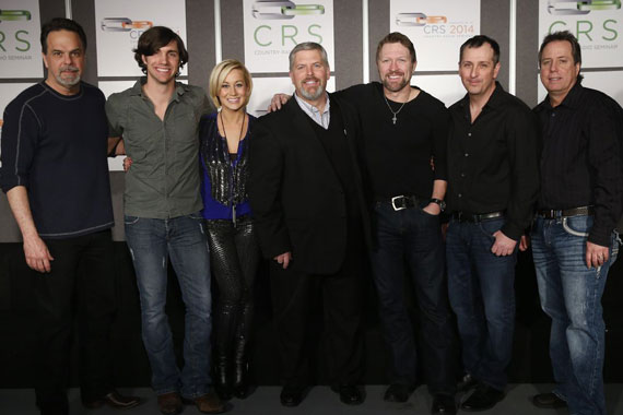 Pictured (L-R): Black River's VP of A&R, Doug Johnson; John King; Kellie Pickler; Black River's, CEO Gordon Kerr; Craig Morgan; Black River's General Manager, Greg McCarn; Black River's VP Promotion, Bill MackyPhoto: John Russell