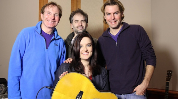 Pictured (L-R): Butch Waugh, Jay Frank, Brandy Clark and Stokes Nielson