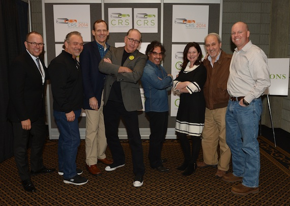 Pictured (L-R): CRB's Charlie Morgan, CRB Board Member Mike Culotta, BMI's Dan Spears, Warner Music Nashville's John Esposito, John Oates, BMI's Jessica Frost, XM Sirius' Charlie Monk, and Clear Channel Media's Clay Hunnicut.Photo by Rick Diamond