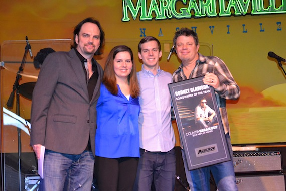 Rodney Clawson receives inaugural Songwriter of the Year honors.