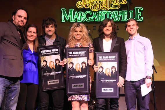 The Band Perry accepts the CountryBreakout Award for Group/Duo of the Year.