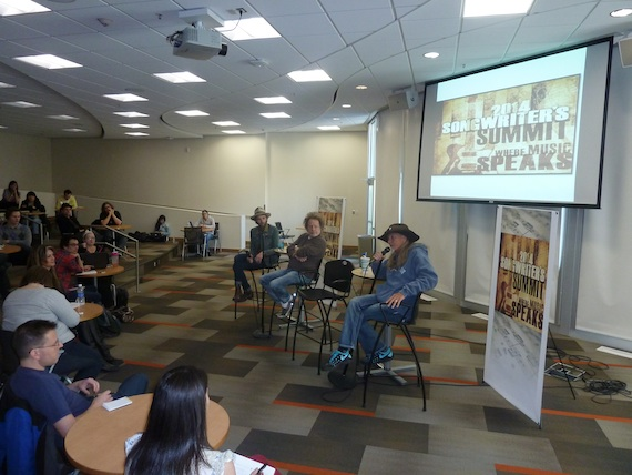 McDonald, Dorff and Dillon spoke to students at Salt Lake Community College about life as a professional songwriter and what it takes to write a great song.