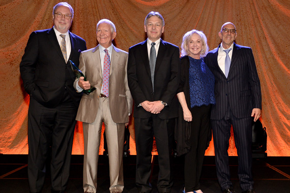 (L-R) Honorees Mike Dungan, Dale Morris, Dr. Scott Hiebert, Beth Dortch Franklin, and Mark Bloom, Photo: Rick Diamond/Getty Images