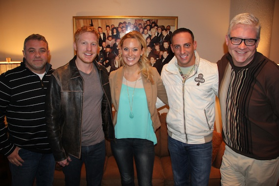 Pictured (L-R): Steve Williams, Ash Bowers, Amanda , Trent Tomlinson, BMI's Perry Howard