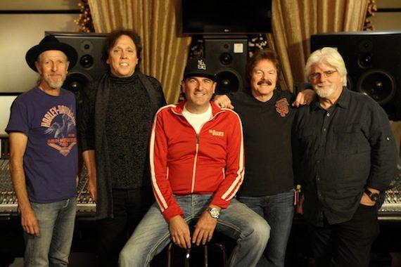 Pictured (L-R): Pat Simmons, John McFee, David Huff, Tom Johnston, Michael McDonald