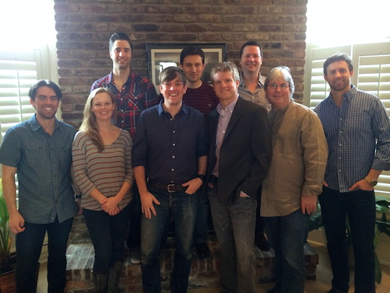 Pictured (L-R, Front): Chris DeTray (Be Music & Entertainment); Sara Johnson (BMG Chrysalis Senior Creative Director); Dave Barnes; Kos Weaver (BMG Chrysalis Executive Vice President); Chris Oglesby (BMG Chrysalis VP, Creative); Ryan Beushel (ASCAP); (Back): Kevin Lane (BMG Chrysalis Creative Director); Daniel Lee (BMG Chrysalis Senior Creative Director); John Allen (BMG Chrysalis Vice President)