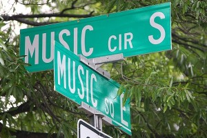 music square street sign