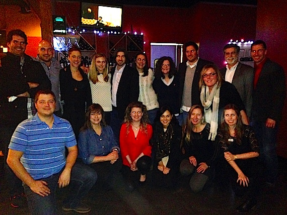 Pictured (Back row, L-R):  Greg Gallo, Alex Heddle, Penny Everhard, Kendall Lettow, Dave Pacula Missy Wilson, Stephanie Cox, Courtney Crist, Kevin Lamb, Brad Peterson. (Front row, L-R): Colt Cameron, Jackie Profit, Carrie Gallo, Jessica Turri, Teri Watson and Allison Buchignani