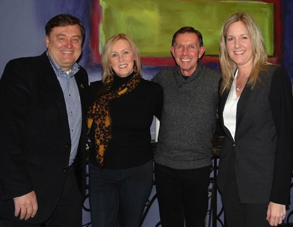 Pictured (L to R): Lon Helton (Host of Country Countdown USA, Editor & Publisher of Country Aircheck), Lyndie Wenner (Director/MSO PR Nashville), Joe Galante (Galante Entertainment, Former Chairman BMG Music, FLO {thinkery} and Stacy Schlitz (Schlitz Law). Photo Credit:  Denise Fussell