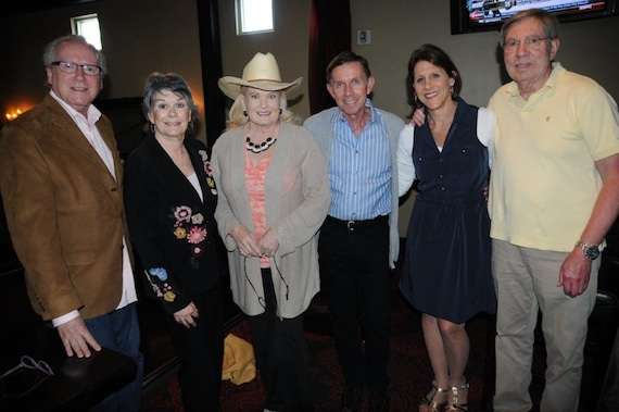 Pictured (L-R): Oermann, Oslin, surprise guest Lynn Anderson, former RCA Label Chairman Joe Galante, LM Executive Director Debbie Linn and Stan Moress, Oslin's long-time manager. Photo: Deb Varallo