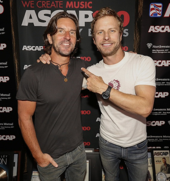 Pictured (L-R): Brett James and Dierks Bentley