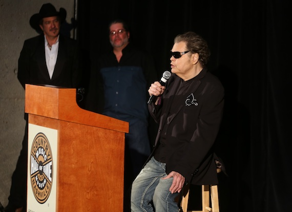"Ronnie Milsap is announced as the ""Modern Era Artist"" inductee. Photo: Alan Poizner / CMA"