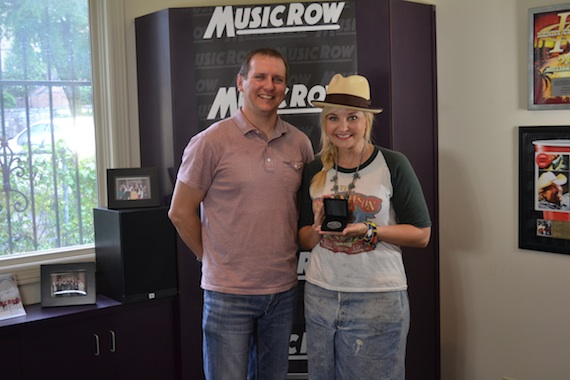 Pictured (L-R): MusicRow Chart Director Troy Stephenson and songwriter Heather Morgan. Photo: Kelsey Grady