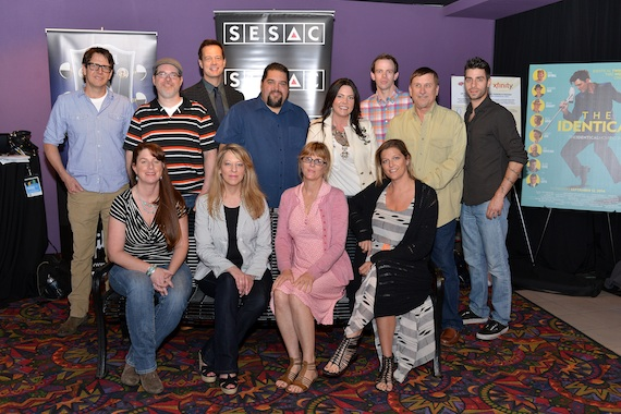 Pictured (seated, L-R): Jennifer Reeve, SESAC's Amy Beth Hale, Sue Jacobs and SESAC's Shannan Hatch. Standing (standing, L-R): David Rockwood, JT Griffith, Whizbang's Jim Scherer, SESAC's Tim Fink, Anastasia Brown, Aaron Mercer, SESAC's John Mullins and Frankie Palazzolo.Photo: Peyton Hoge