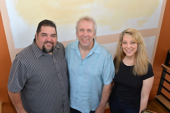 Pictured (L-R): SESAC's Tim Fink, House and SESAC's Amy Beth Hale. Photo: Peyton Hoge