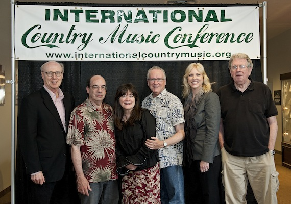 Authors and journalists at the conference,  pictured above are, left to right, Don Cusic, Barry Mazor, Holly George-Warren, Robert K. Oermann, Beverly Keel and Ed Morris.