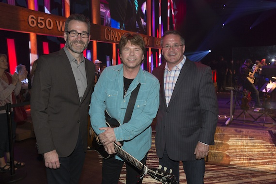 Pictured (L-R): Steve Buchanan, President Opry Entertainment Group; House and Pete Fisher, VP and general manager Grand Ole Opry.
