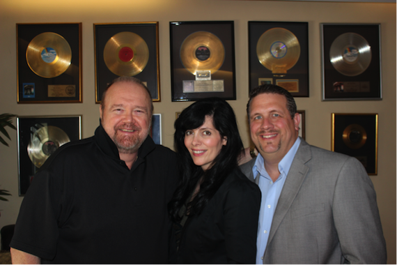 L-R: Dan Mitchell - President, Artist Marianne Allison, Sean Gasaway - Vice President
