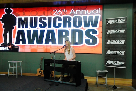 "Nicolle Galyon performs her MusicRow CountryBreakout chart-topping hit ""Automatic."" Photo: Bev Moser, Moments By Moser"